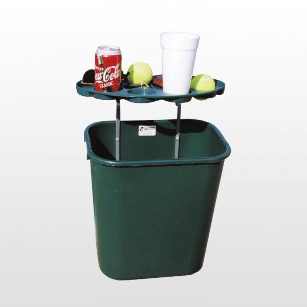Court side tennis bin